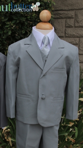 Joey Heather Suit ringbearer, tuxedos, black tie, mens wearhouse