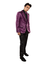 Johnny B- Vice Purple/Black black tie formal, Young Mens formal, Wedding, Prom, Winter Formal
