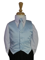 Baby Blue Vest and tie