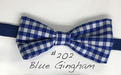 Blue Gingham Bow tie 202