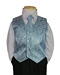 Blue Jacquard Vest and tie - 4001-BJQ-SM