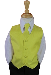 Canary vest and tie