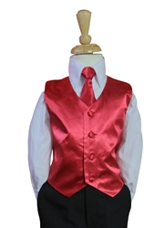 Crimson Red Vest and tie