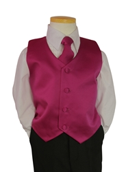 Fuschia Vest and tie