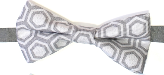 Grey pattern Bow tie 105