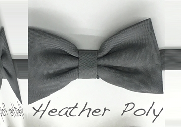 Heather Polyester bow