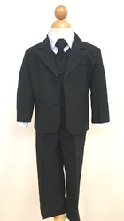 Joey Black boys suit, boys tuxedo, ring bearer, flower girl, black tie formal, usher, cute ring bearer, ring security , boys formalwear