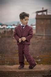 Joey Burgundy ringbearer, tuxedos, black tie, mens wearhouse