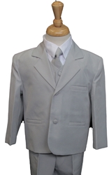 Joey Light Grey Suit ringbearer, tuxedos, black tie, mens wearhouse