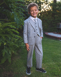 Joey Safari Heather Suit  ringbearer, tuxedos, black tie, mens wearhouse