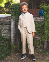 Joey Safari Sand Suit ringbearer, tuxedos, black tie, mens wearhouse