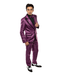 Johnny B- Purple black tie formal, Young Mens formal, Wedding, Prom, Winter Formal