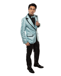 Johnny B- Vice Sky Blue/Black black tie formal, Young Mens formal, Wedding, Prom, Winter Formal