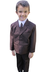 Kevin Dark Brown ringbearer, tuxedos, black tie, mens wearhouse