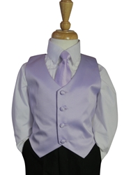 Lavender Vest and tie