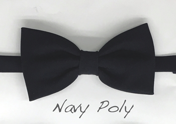 Navy Polyester bow