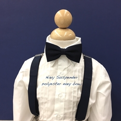 Navy suspender - Poly bow