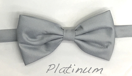 Platinum Satin bow