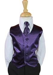 Purple Vest and Long tie