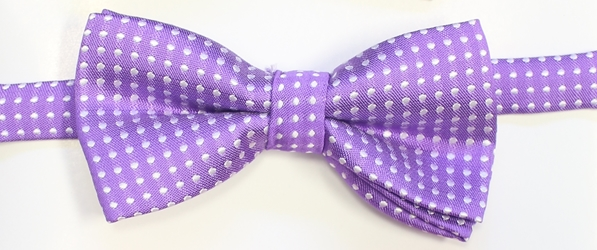 Purple polka Bow tie 118