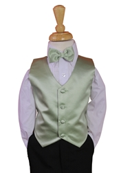 Sage Vest and Long tie