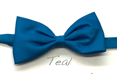 Teal satin bow