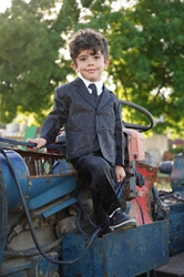 Teddy B boys suit, boys tuxedo, ring bearer, flower girl, black tie formal, usher, cute ring bearer, ring security , boys formalwear