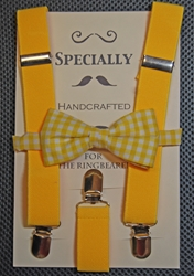 Yellow suspender #122 bow tie set